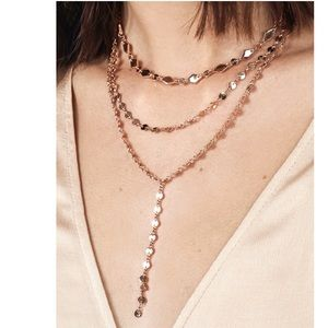 NWOT Baublebar Aimee Layered Y-Chain goldNecklace